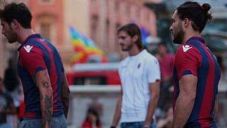 Bologna FC in Piazza Maggiore