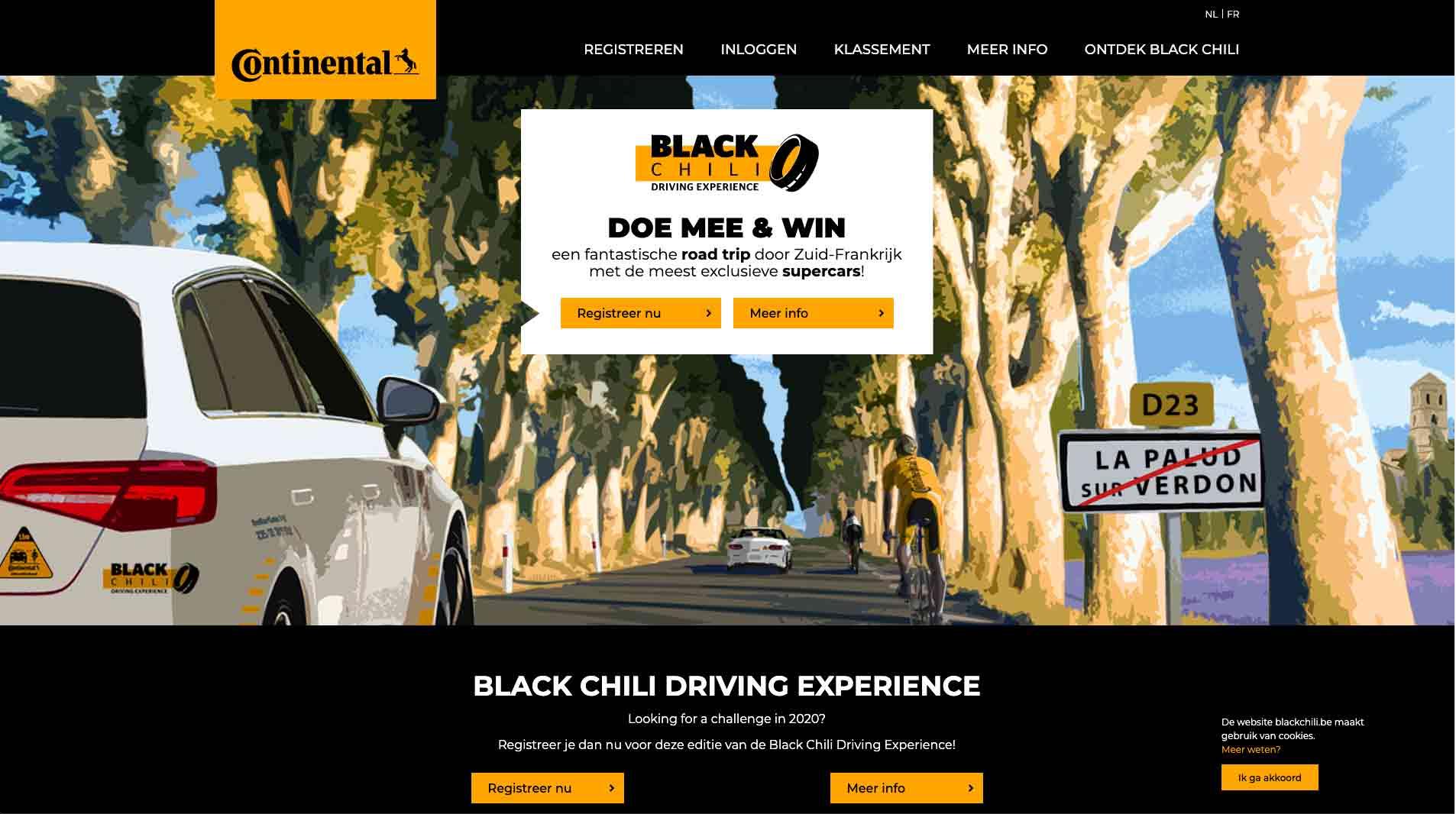 screenshot di www.blackchili.be/nl