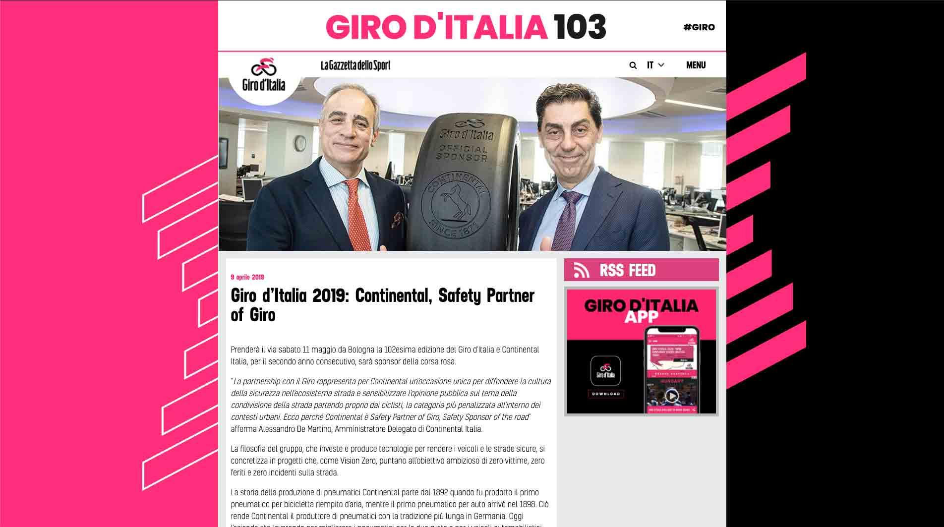 giro d'italia 2019 sito ufficiale