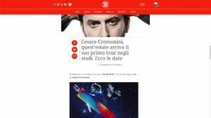 CESARE CREMONINI RADIO DEEJAY