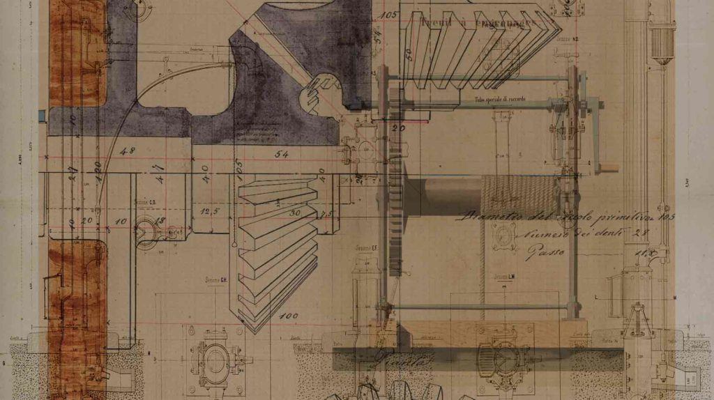 MUSEO PATRIMONiO INDUSTRIALE - disegni tecnici vfx